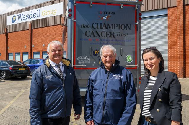 Wasdell chairman Martin Tedham with Bob Champion and Martin's partner Iwona Guzek