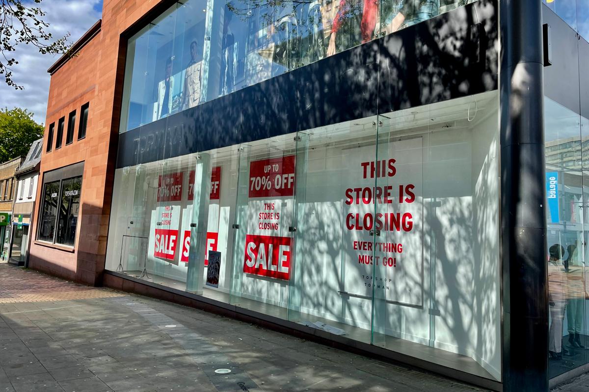 Empty retail premises in Swindon
