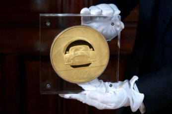 A rare 2kg James Bond-themed gold coin