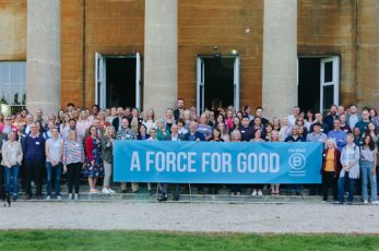 Business West staff celebrate becoming a B Corp