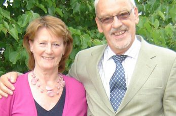 Barry with business partner Sue Haine