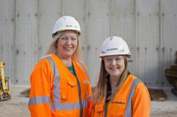 Suzie Mott and Claire Coetzee of civil engineering firm M J Church